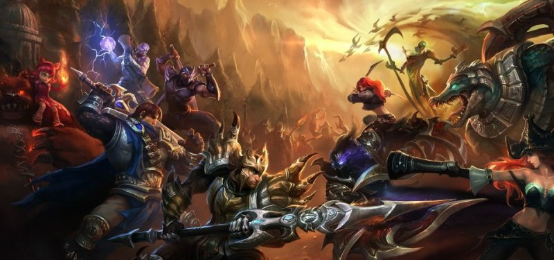 League of legends Battle